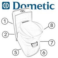 Spare Parts Diagram - Dometic CTS-4110 / CTS-3110 Cassette Toilet