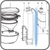 Gasket Rear Housing Flat - Suit Dometic CTS-3110 / CTS-4110 Toilets